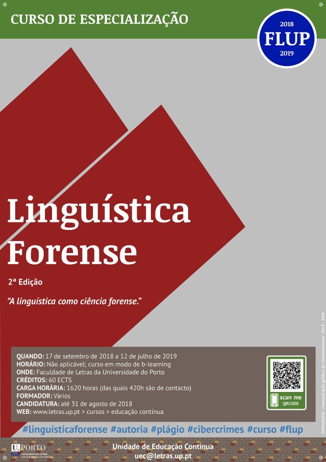 Linguística Forense 2018-19 Cartaz